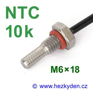 Termistor NTC 10k senzor teploty šroub M6x18 mm nerez