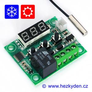 Termostat W1209 modul LED 3 místa