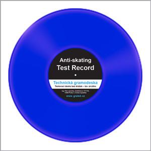 Testovací gramodeska – bez drážek – Blank disc