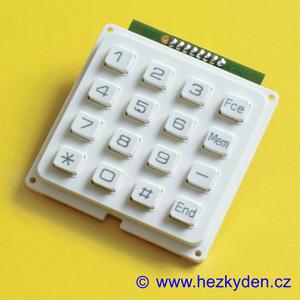 Tlačítková klávesnice 4x4 matice