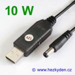 USB DC-DC měnič v kabelu