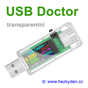 USB Doctor LCD color - transparentní kryt