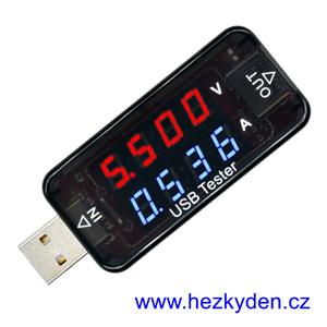 USB Doctor LED 2x4 místa VA-metr