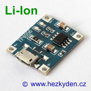 USB micro nabíjecí modul LiIon