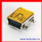Zásuvka USB mini B SMD