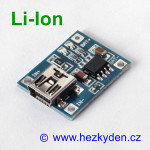 USB mini nabíjecí modul LiIon