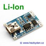 USB mini nabíjecí modul LiIon s ochranou