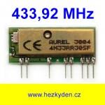 Vf přijímač Aurel 434 MHz SAW stíněný
