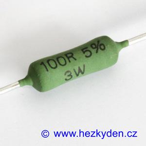 Výkonový odpor rezistor 100R 3W