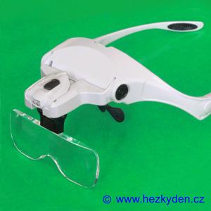 Zvětšovací brýle robustní s LED osvětlením